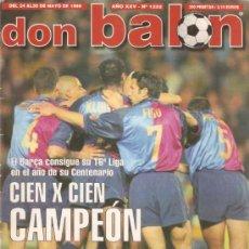 Coleccionismo deportivo: REVISTA DON BALON Nº 1232 MAYO 1999. Lote 21357916