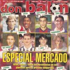 Coleccionismo deportivo: REVISTA DON BALON Nº 1234 JUNIO 1999. Lote 21357930