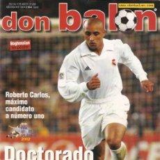 Coleccionismo deportivo: REVISTA DON BALON Nº 1398 AGOSTO 2002. Lote 21358339