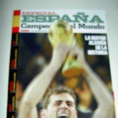 Coleccionismo deportivo: REVISTA MAGAZINE ESPECIAL ESPAÑA CAMPEON MUNDIAL SUDAFRICA 2010 MARCA EL MUNDO WORLD CUP. Lote 22162734