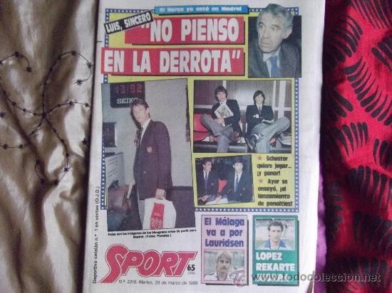 SPORT-Nº3016-56PAGINAS-1988-VALVERDE-ZUBIZARRETA-BAQUERO (Coleccionismo Deportivo - Revistas y Periódicos - Sport)