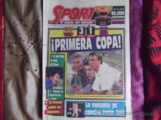 SPORT-Nº3162-48 PAGINAS- COMPLETO-1988- (Coleccionismo Deportivo - Revistas y Periódicos - Sport)