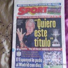 Coleccionismo deportivo: SPORT-1996-Nº6040-64-PAGINAS- COMPLETO-. Lote 23601589