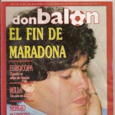Coleccionismo deportivo: DON BALON-REVISTA-FEBRERO DE 1991. Lote 23519133