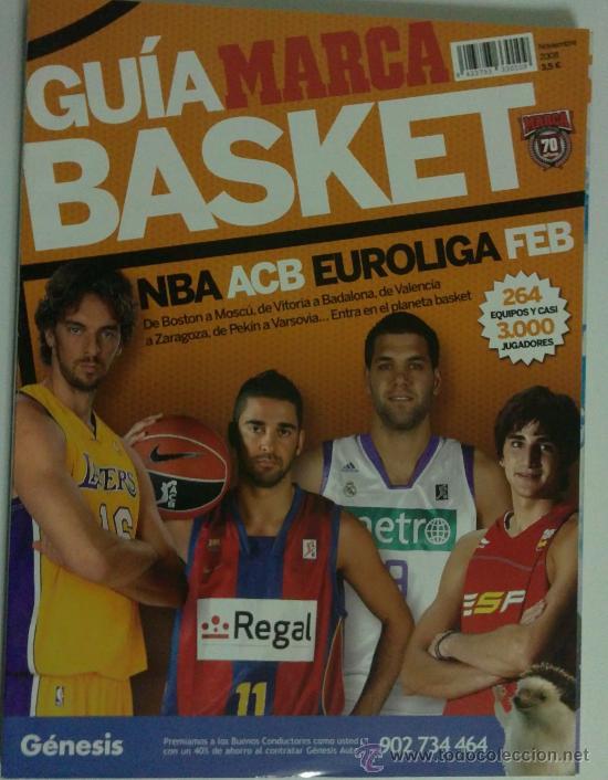 GUIA MARCA BASKET 2008 (Coleccionismo Deportivo - Revistas y Periódicos - Marca)