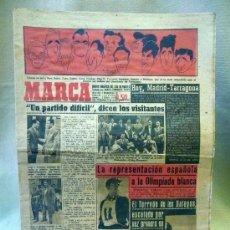 Coleccionismo deportivo: PERIODICO DEPORTIVO MARCA, 11 DE ENERO DE 1948, CARICATURAS DEL GIMNASTICO DE TARRAGONA. Lote 49121256