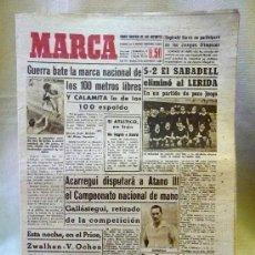 Coleccionismo deportivo: PERIODICO DEPORTIVO MARCA, 21 DE ABRIL DE 1948, EL ATLETICO EN PARIS. Lote 24015426