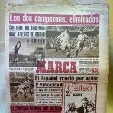 Coleccionismo deportivo: PERIODICO DEPORTIVO MARCA, 10 DE MAYO DE 1948, ASI FUE ELIMINADO EL MADRID. Lote 24015460