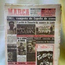 Coleccionismo deportivo: PERIODICO DEPORTIVO MARCA, 15 DE MARZO DE 1948, COLL CAMPEON DE ESPAÑA DE CROSS. Lote 24015490