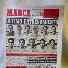 Coleccionismo deportivo: PERIODICO DEPORTIVO MARCA, 18 DE MARZO DE 1948, INTEGRANTES DE LA SELECCION, CONTRA PORTUGAL. Lote 24015544