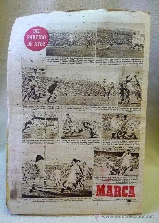 Coleccionismo deportivo: PERIODICO DEPORTIVO MARCA, 19 DE ABRIL DE 1948 - Foto 2 - 254487790