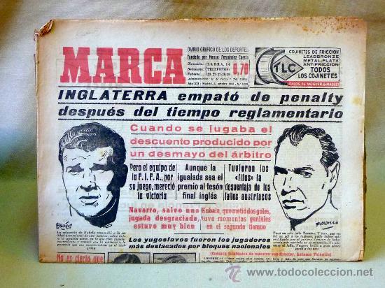 DEPORTIVO MARCA, 22 DE OCTUBRE 1953 (Coleccionismo Deportivo - Revistas y Periódicos - Marca)