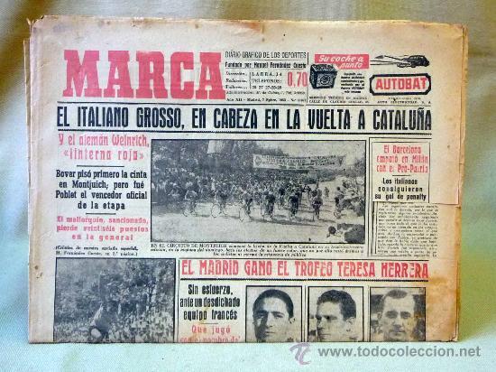 DEPORTIVO MARCA, 7 DE SEPTIEMBRE 1953 (Coleccionismo Deportivo - Revistas y Periódicos - Marca)