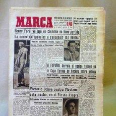 Coleccionismo deportivo: DEPORTIVO MARCA, 9 ABRIL 1947. Lote 24275496