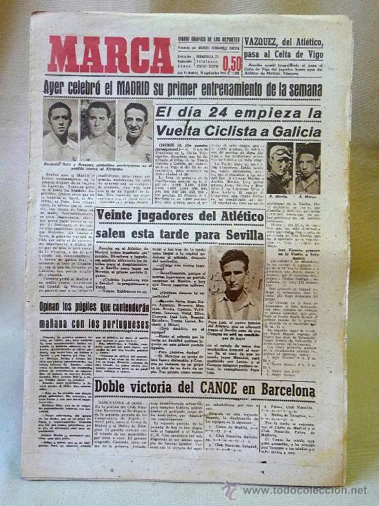 DEPORTIVO MARCA, 19 SEPTIEMBRE 1947 (Coleccionismo Deportivo - Revistas y Periódicos - Marca)