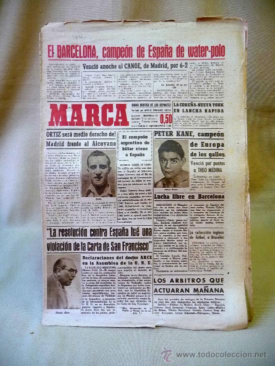 DEPORTIVO MARCA, 20 SEPTIEMBRE 1947 (Coleccionismo Deportivo - Revistas y Periódicos - Marca)
