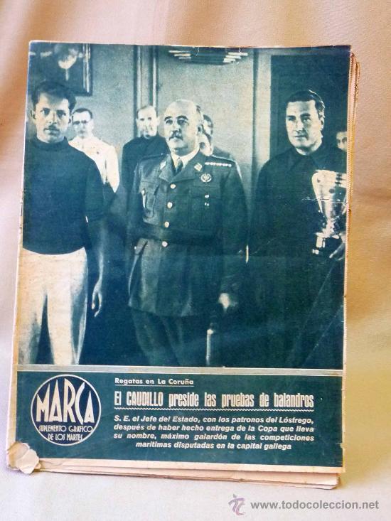 PERIODICO DEPORTIVO MARCA, 10 DE AGOSTO 1943, Nº 37, AÑO III (Coleccionismo Deportivo - Revistas y Periódicos - Marca)