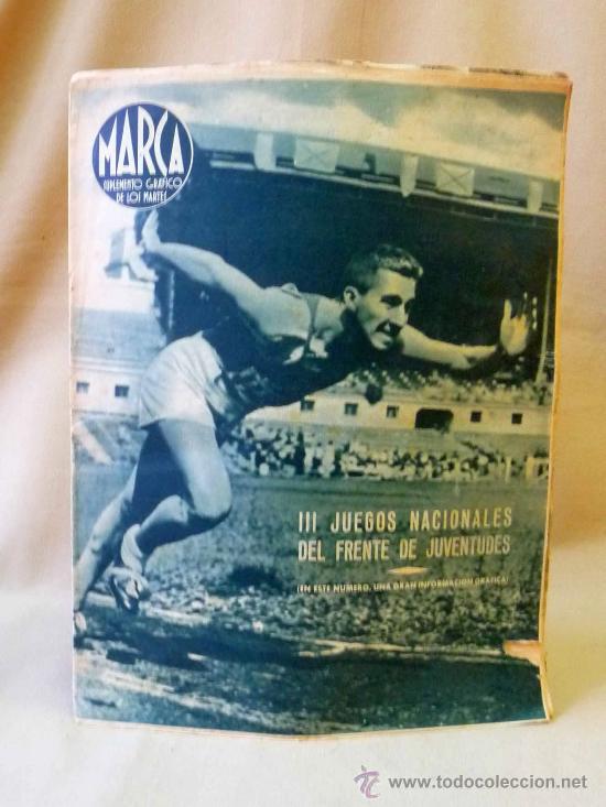 PERIODICO DEPORTIVO MARCA, 20 DE JULIO 1943, Nº 34, AÑO III (Coleccionismo Deportivo - Revistas y Periódicos - Marca)