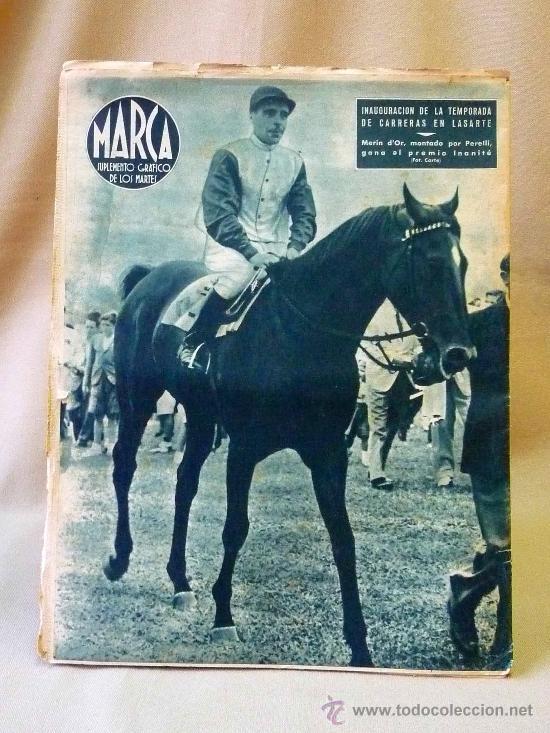 Coleccionismo deportivo: PERIODICO DEPORTIVO MARCA, 20 DE JULIO 1943, Nº 34, AÑO III - Foto 2 - 24287497