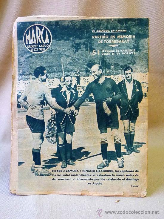 Coleccionismo deportivo: PERIODICO DEPORTIVO MARCA, 10 DE AGOSTO 1943, Nº 37, AÑO III - Foto 2 - 24287381
