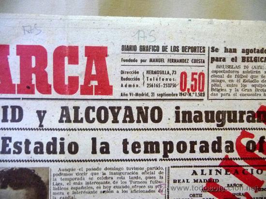 Coleccionismo deportivo: PERIODICO DEPORTIVO MARCA, 21 SEPTIEMBRE 1947 - Foto 2 - 24276318