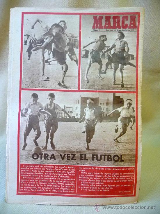 Coleccionismo deportivo: PERIODICO DEPORTIVO MARCA, 21 SEPTIEMBRE 1947 - Foto 3 - 24276318