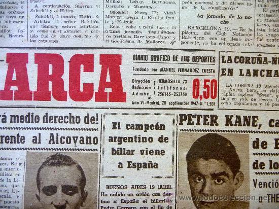 Coleccionismo deportivo: DEPORTIVO MARCA, 20 SEPTIEMBRE 1947 - Foto 3 - 24276004