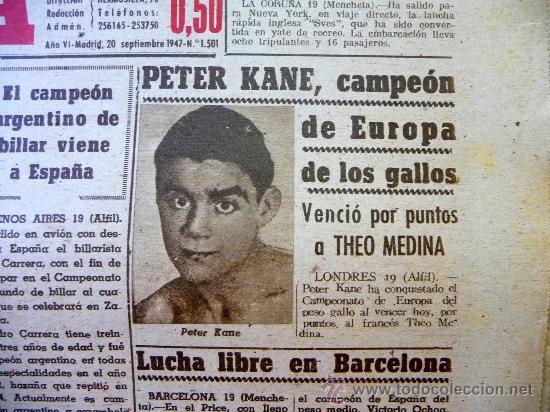 Coleccionismo deportivo: DEPORTIVO MARCA, 20 SEPTIEMBRE 1947 - Foto 2 - 24276004