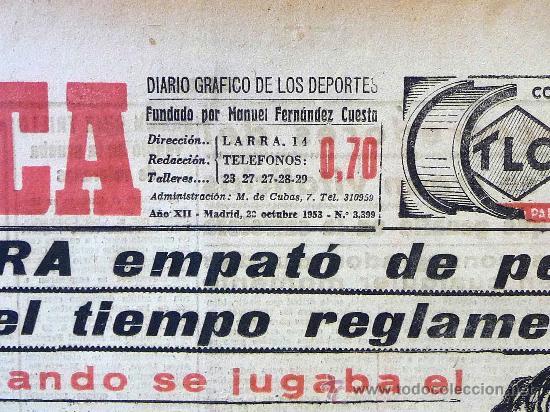 Coleccionismo deportivo: DEPORTIVO MARCA, 22 DE OCTUBRE 1953 - Foto 4 - 24274706