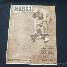 Collectionnisme sportif: MARCA - Nº 829 - 21 OCTUBRE 1958 - PORTADA, ANGEL MIGUEL PRIMER ESPAÑOL CLASIFICADO. Lote 24454770