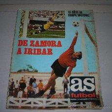 Coleccionismo deportivo: AS FUTBOL NUMERO EXTRAORDINARIO, 50 AÑOS DE EQUIPO NACIONAL1920 - 1970, MUY ILUSTRADO, 98 PAG. Lote 27280729