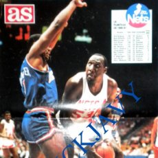 Coleccionismo deportivo: AS SEMANAL Nº 78 JULIO 1987 POSTER GORILA DAWKINS NETS NEW JERSEY NBA BASKETBALL. Lote 26034118