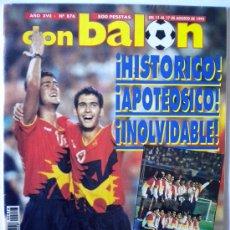 Coleccionismo deportivo: DB REVISTA DON BALON ESPAÑA MEDALLA DE ORO OLIMPIADA BARCELONA 92 GUARDIOLA KIKO. Lote 26269202