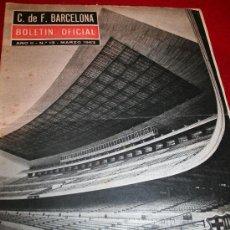 Coleccionismo deportivo: CLUB DE FUTBOL BARCELONA - BOLETIN OFICIAL - AÑO II - Nº 13 - MARZO 1963 . Lote 26372242