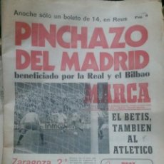 Coleccionismo deportivo: DIARIO MARCA 20 ENERO 1975. Lote 27101446