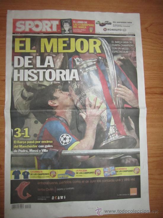 diario sport 29-5-2011 --- el barcelona gana su - Comprar Periódicos ...