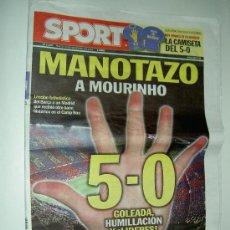 Collezionismo sportivo: DIARIO SPORT F.C. BARCELONA 5 REAL MADRID 0 MANOTAZO A MOURINHO 2010 30-09-10. Lote 27521313
