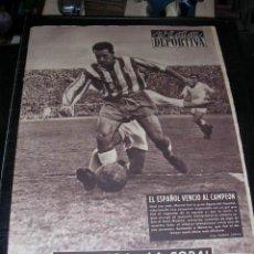 Coleccionismo deportivo: VIDA DEPORTIVA AÑO XI NUM 449, 1954 - RCD ESPAÑOL VENCIO AL CAMPEON R MADRID, . Lote 27558128