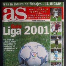 Coleccionismo deportivo: FÚTBOL. GUÍA AS. LIGA 2001.. Lote 27768152