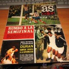 Collectionnisme sportif: AS COLOR Nº 160 11 DE JUNIO DE 1974 POSTER SELECCION ALEMANIA ORIENTAL. Lote 27830404