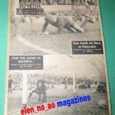 Coleccionismo deportivo: VIDA DEPORTIVA 958/1964 PONTEVEDRA~BARCELONA~ESPAÑOL~REAL OVIEDO~HOSPITALET~CELTA~BADALONA~BOXEO. Lote 27844829
