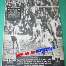 Coleccionismo deportivo: VIDA DEPORTIVA 906/1963 BETIS~BARCELONA~ESPAÑOL~BASCONIA~SABADELL~ALAVES~NATACION~MIGUEL TORRES. Lote 27846930