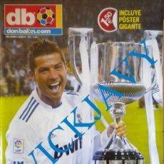 Coleccionismo deportivo: DON BALON POSTER REAL MADRID CAMPEON COPA REY 2011. Lote 39320050
