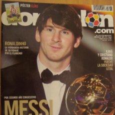 Coleccionismo deportivo: REVISTA DON BALON Nº 1837 ENERO 2011 MESSI BALON DE ORO 2010. Lote 28049212
