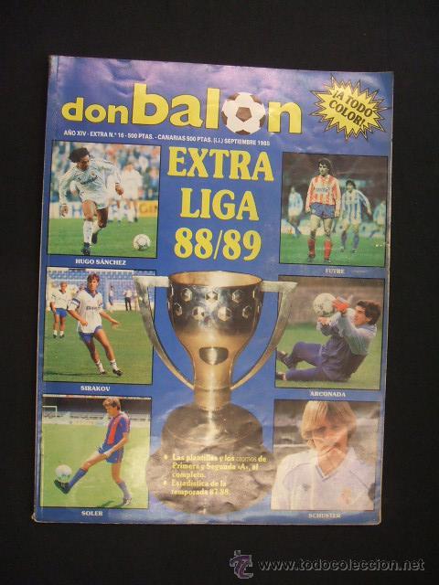 DON BALON - EXTRA LIGA 88-89 - AÑO XIV - EXTRA Nº 16 - (Coleccionismo Deportivo - Revistas y Periódicos - Don Balón)