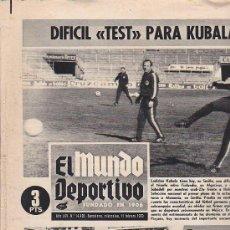 Coleccionismo deportivo: PERIODICO DEPORTIVO MUNDO DEPORTIVO 11-2-70. Lote 28438166