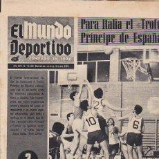 Coleccionismo deportivo: PERIODICO DEPORTIVO MUNDO DEPORTIVO 9-1-70. Lote 28438180