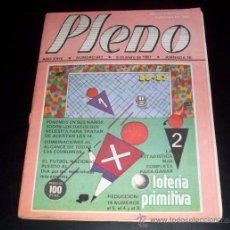 Coleccionismo deportivo: PLENO - REVISTA DEPORTIVA INFORMACION QUINIELISTA - NUM 941 - JORNADA 20 - 5 ENERO 1987. Lote 28441218