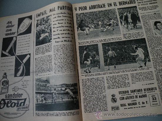 Coleccionismo deportivo: DIARIO MARCA, BARCELONA CAMPEON LIGA 1958-59, REAL MADRID, ATLETICO, DERBI!!!!!! - Foto 4 - 28654011