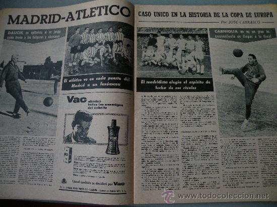 Coleccionismo deportivo: DIARIO MARCA, BARCELONA CAMPEON LIGA 1958-59, REAL MADRID, ATLETICO, DERBI!!!!!! - Foto 7 - 28654011
